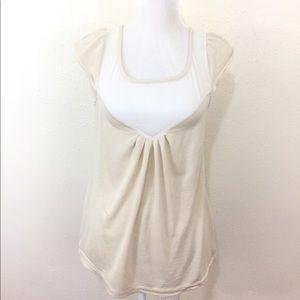 DVF Off White Sleeveless Silk Top